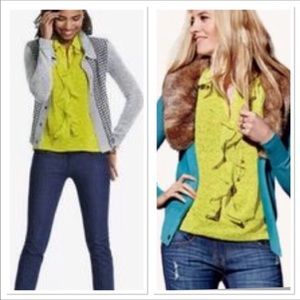 Cabi | Chartreuse Reign Sleeveless Blouse (S)